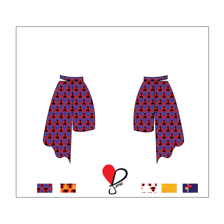 Curie Asymmetrical Pant