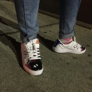 NEOXNOIR ALLOVER PRINT LEATHER SNEAKS