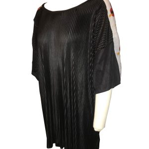 Stacia Black Pleated Tunic